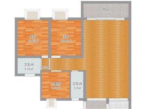 汇景新城3室2厅2卫160万元