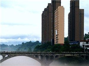 雨后的河边,仙雾袅绕,让人留恋忘返
