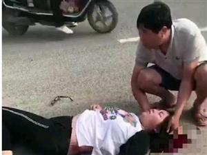 遂平一女子骑电车与公交车相撞头部受伤!