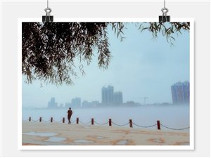 威尼斯人网上娱乐平台江边起雾,宛如海市蜃楼