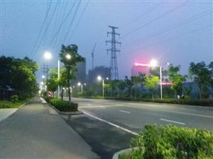 傍晚的时候骑上共享单车去锻炼