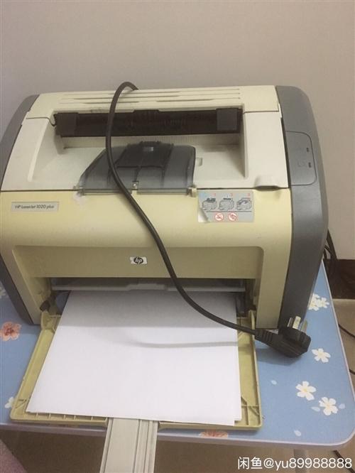 闲置出惠普1020激光打印机,机器打印正常,打印速度快,硒鼓带碳粉,数据线,到手即可使用,打印功能正...