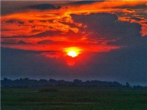 武昌湖之夕阳