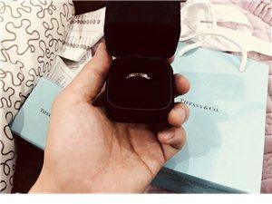 出全新Tiffany18k金钻石戒指。购于重庆Tiffany。圈号4号。原价8900,现6800出。...