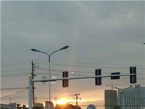 大霍邱的日出还是挺美的呢……