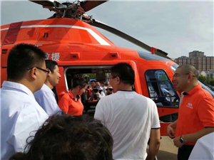 厉害了!空中120!霍邱二院直升机救援启动仪式。