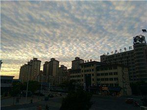 清晨的白云朵朵