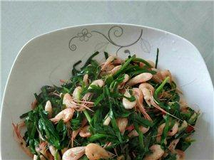 舌尖上的五河:韭菜炒小河虾