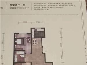 唐街御景城2室 1厅 1卫52万元