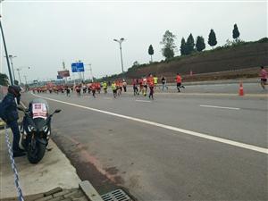 广安红色马拉松开跑