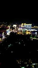 朋友的视频,高空龙南的夜景。