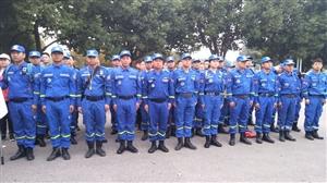 临泉县蓝天救援队秋季拉练开始啦