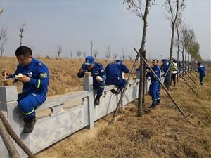 临泉县蓝天救援队拉练进行中之午餐