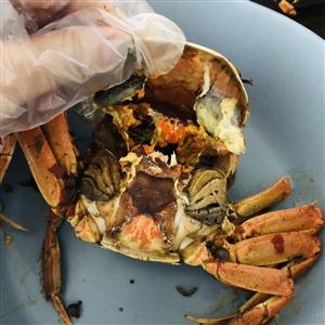 今天中午吃的江西阳澄湖大盘海!