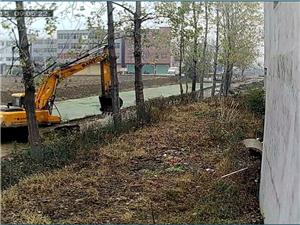 清理河水污染垃圾在河里清了垃圾没有拉走放在水泥路东边!