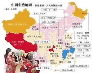 我国最贵的彩礼前5省市,江西省排老三,这些省的女孩你敢娶吗