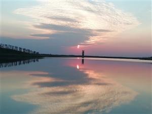 麻大湖黄昏