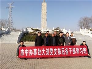 市中街道办大刘村后备干部学习班暨预备党员宣誓活动,在周恩来纪念园举行。他们听取了纪念园工作人员关于纪