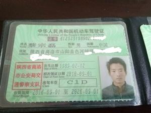 色河的蔡宗磊你驾照被好心人捡到了请来电领取
