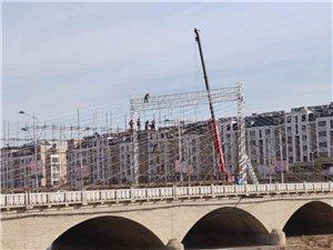 建平一号桥灯光亮化工程进展