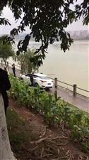 """【奇】视频网爆一辆小车""""飞""""到金沙平台滨江大道护拦下,"""