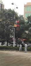 琼海市嘉积城区张灯结彩喜迎新年、新春佳节