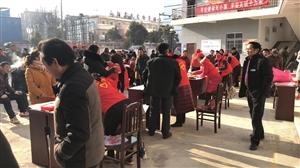 老干部局,迎新春,送春联,促脱贫活动,在五里桥社区火热进行中