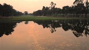 珠海国际高尔夫球场夕阳