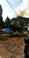 中学后面猪木岌火烧山,请注意用火用电安全喔!