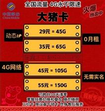 超便宜4G流量上�W卡�砹�12包10G45包105G零月租全��流量永不限速!