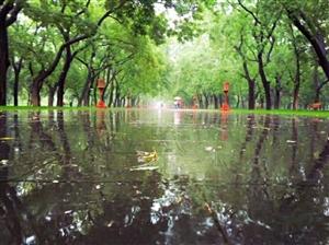 初秋天坛雨