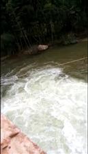 太湖库开闸放水一景,请各村沿河群众注意安全喔