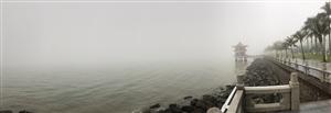 能见度只有50米,港珠澳大桥也不见了~