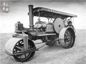 澳门金沙城中心市最早修建柏油马路时使用的蒸汽压路机
