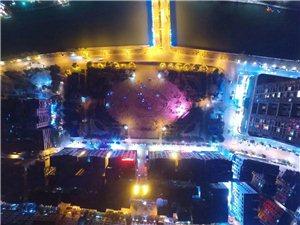 航拍湄潭夜景