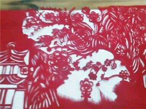 手工剪纸,最美山水画