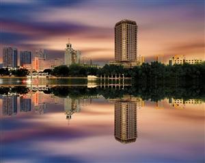 三亚河夜景依旧灯火辉煌