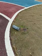 霍邱城南公园是个豆腐渣工程,请有关部门彻查!