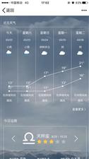 我该不该相信这个天气预报?谁夜观天象没有?明天彭水会下雨吗?