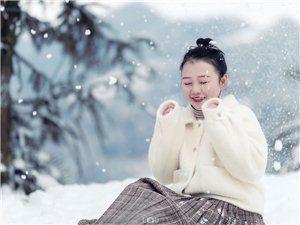 第一次拍雪景人像先发一张。