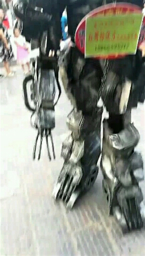 不一样的宣传方式,能说会动变形金刚机器人