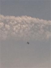 新县蓝天上,什么时候有自己的大飞机就好了!