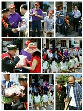 眉山关爱老兵志愿者同老兵、水兵一起共庆人民海军诞辰七十周年
