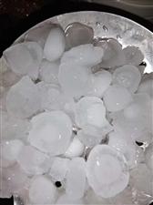 栾川今天晚上下的冰雹,核桃一样大!!