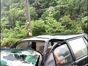 宁国青龙湾副坝处出现一场车祸!
