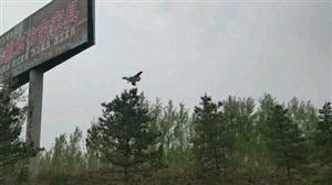 小飞机降落实拍