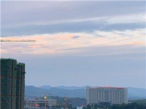 昨日,陵州那一抹靓丽的晚霞