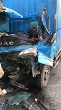 皖N98637蓝色厢式货车车祸,有认识的通知下家属,发生车祸,十分严重