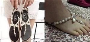 这样的凉鞋,喜欢吗?我真的有点承受不住………