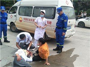 突发||寻乌新罗发生一起两车相撞交通事故,摩托车主受伤倒地!车祸猛于虎,请遵守交通规则!
